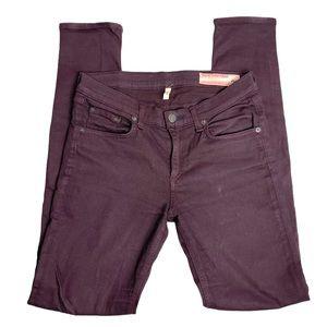 rag & bone Wine Burgundy Skinny Jeans Long Pants